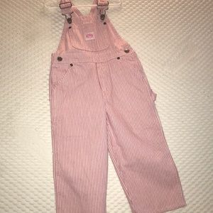 Other - Cute Pink Striped Overalls! NWT!